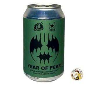 AF Brew Year of Fear. Jalisco Barrel Aged Imperial Stout 33 cl. (Lattina) (Coll. Lervig)