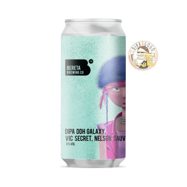 Bereta Brewing Co. DIPA DDH Galaxy, Vic Secret, Nelson Sauvin 44 cl. (Lattina)